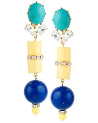 Lele Sadoughi - Egyptian Deco 14k Plated Crystal Vessel Earrings - Lyst