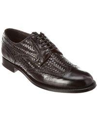 Brioni Goodyear Leather Oxford - Black