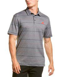 adidas Originals Ultimate365 Heathered Stripe Polo Shirt - Black