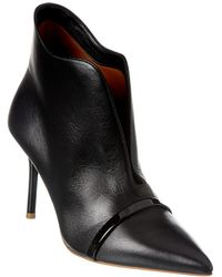 Malone Souliers Cora 70 Leather Bootie - Black