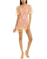 BCBGeneration Smocked Mini Dress - Pink