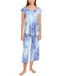 Ellen Tracy 2pc Lounge T-shirt & Pant Set - Blue