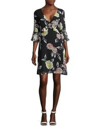 French Connection Enoshima Floral Ruffle Dress - Black
