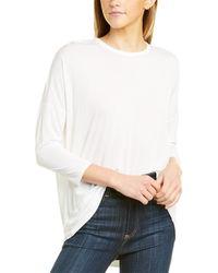 Three Dots Vintage 3/4-sleeve T-shirt - White