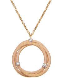 Marco Bicego Goa 18k Two-tone Diamond Pendant - Metallic