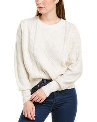 Michael Stars Penelope Wool-blend Pullover - White