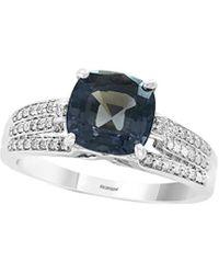 Effy Fine Jewellery 14k 2.83 Ct. Tw. Diamond & Spinel Ring - Blue