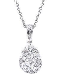 Suzy Levian 18k 0.52 Ct. Tw. Diamond Pendant Necklace - Metallic