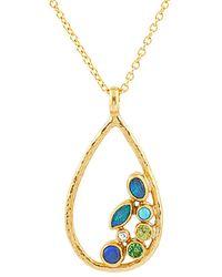 Gurhan Pointelle 24k, 22k, & 18k 0.84 Ct. Tw. Diamond & Gemstone Necklace - Metallic