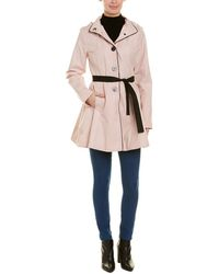 Laundry by Shelli Segal Single-breasted Trench Coat - Pink