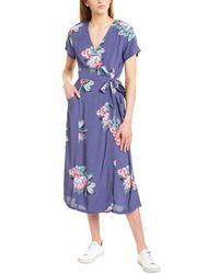 Joules Callie Wrap Dress - Blue