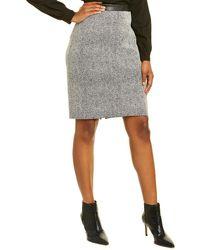 Karl Lagerfeld Jacquard Pencil Skirt - White