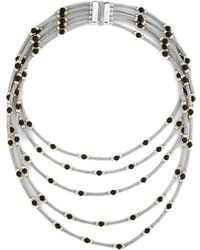 David Yurman - David Yurman Hampton 14k & Silver Onyx Layered Necklace - Lyst