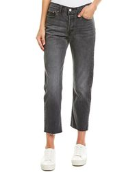 Levi's Wedgie Grey Straight Leg - Gray