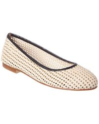 French Sole Appletini Leather Flat - Brown