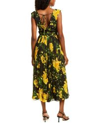 Carolina Herrera Floral Midi Dress - Black