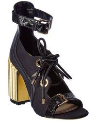 Dior Patent & Leather-trim Sandal - Black