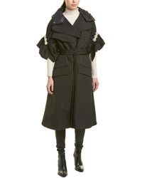 Moncler Ruth Twill Coat - Black