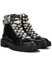 Circus by Sam Edelman Flora Leather Combat Boot - Black
