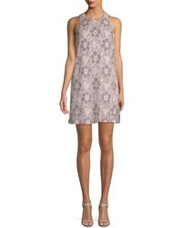 RACHEL Rachel Roy Floral Lace Shift Dress - Multicolour