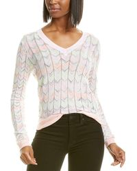 Autumn Cashmere Cotton By Flame Stitch Top - Pink
