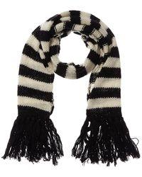 Saint Laurent Fringe Wool & Mohair-blend Scarf - Black