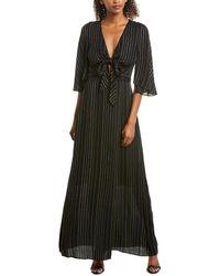 BCBGMAXAZRIA Tie-front Wrap Dress - Black