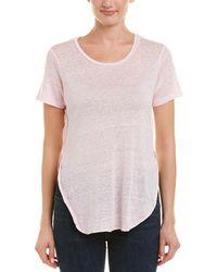 Acrobat High-low Linen Top - Pink