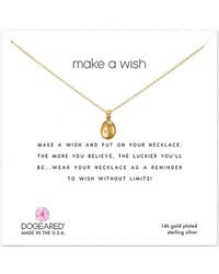 Dogeared 14k Over Silver Necklace - Metallic