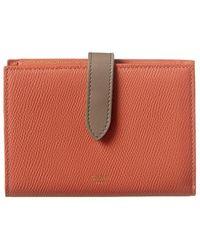 Celine Medium Strap Leather Wallet - Red