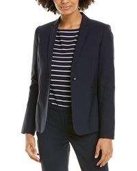 Elie Tahari Darcy Wool-blend Jacket - Blue