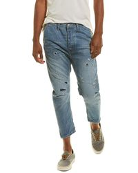 One Teaspoon Mr Browns Wild Lion Relaxed Tapered Jean - Blue