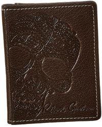 Robert Graham Fuselage Magnetic Flip Leather Card Case - Brown
