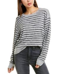Rag & Bone Avryl Striped Crewneck Sweater - Gray