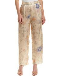 Anna Sui - Dancing Dandelions Silk Pant - Lyst