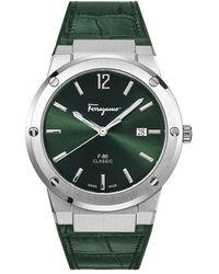 Ferragamo F-80 Slim Watch - Green