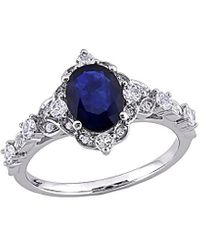 Rina Limor 10k 2.10 Ct. Tw. Diamond & Sapphire Ring - Metallic
