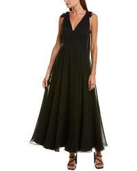 Prabal Gurung Chiffon Silk Gown - Black