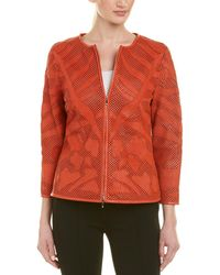 ESCADA Leather Jacket - Orange