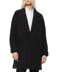 Marc New York Chatam 35 Curly Wool Jersey Lined Co - Black