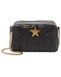 5ca4947b46 Stella McCartney - Mini Stella Star Bag In Black Synthetic Material - Lyst