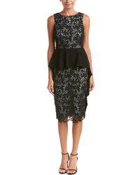 Sachin & Babi Sachin & Babi Noir Lace Peplum Dress - Black
