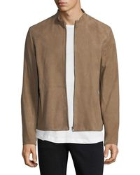 Theory - Arvid Suede Jacket - Lyst