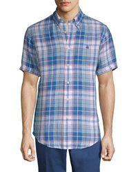 Brooks Brothers - Linen Freeport Plaid Sport Shirt - Lyst