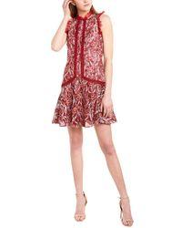 ML Monique Lhuillier Lace Cocktail Dress - Red