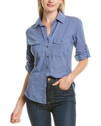 James Perse Contrast Panel Shirt - Blue