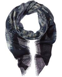 Dior Cashmere & Silk-blend Scarf - Blue