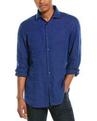 Corneliani Linen Sportshirt - Blue
