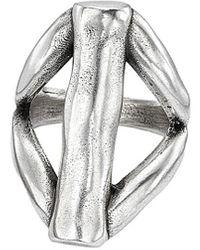 Uno De 50 Unode50 Chara Silver Plated Ring - Metallic