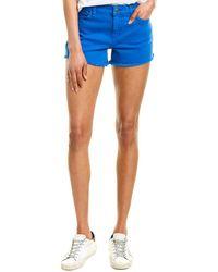 Hudson Jeans Gemma Racer Blue Mid-rise Short